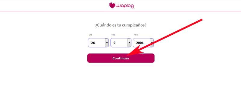 Registro en Waplog